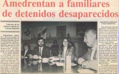 Después de 14 años, vuelve el terror, amedrentan a familiares de detenidos desaparecidos