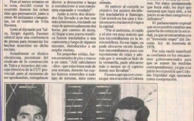 """Dirigente sindical entregó su testimonio """"Fui torturado en Colonia Dignidad"""""""