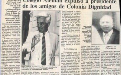 """En los Ángeles se """"pusieron las pilas"""", Colegio Alemán expulsó a presidente de los amigos de Colonia Dignidad"""