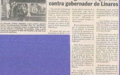 Colonia Dignidad se querella contra gobernador de Linares