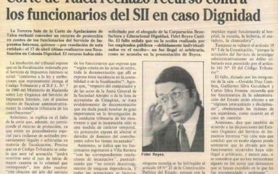 Corte de Talca rechazó recurso contra los funcionarios del SII en caso Dignidad