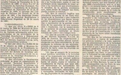 Texto del decreto sobre «Dignidad»