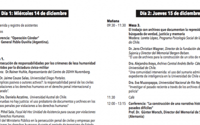 Programa | III Seminario Internacional Colonia Dignidad: Avanzando hacia la verdad y la justicia