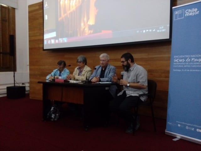 Asociación por la Memoria y los Derechos Humanos Colonia Dignidad  presente en el Encuentro Nacional de Sitios de Memoria