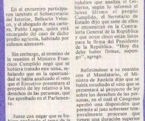 """A puertas cerradas con dos Ministros Aylwin analizó el """" """"Caso Dignidad"""""""
