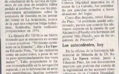 Amenazas recibió en 1980 actual seremi de minería. Yacimiento de titanio buscó Colonia Dignidad