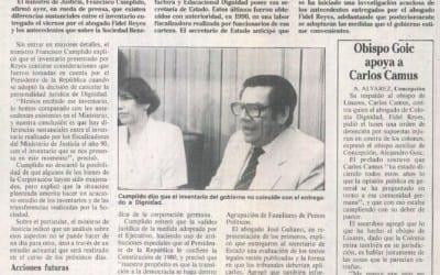 Cumplido anunció acuciosa investigación de inventario por Fidel Reyes