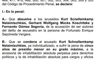 Sentencia primera instancia Secuestro de prisioneros políticos de Talca