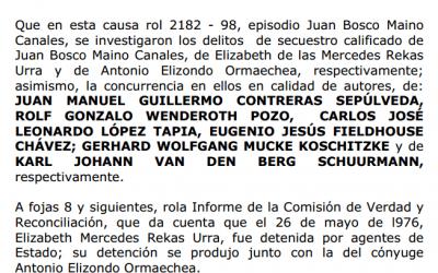 Sentencia Juan Maino Canales