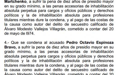 Sentencia primera instancia Alvaro Vallejos