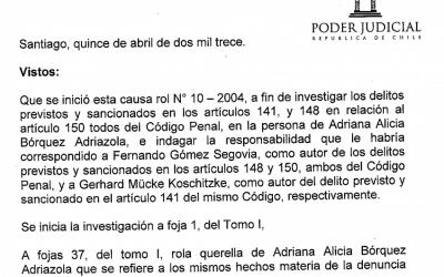 Sentencia primera instancia Adriana Borquez